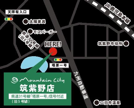 福岡 筑紫野店 地図