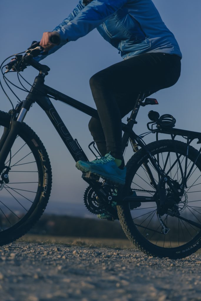 ride the mountain with mountainbike