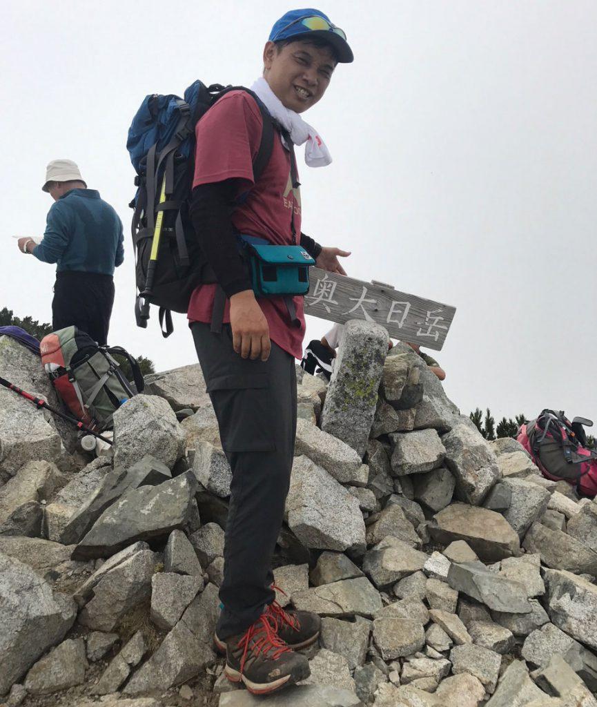 山頂に到着