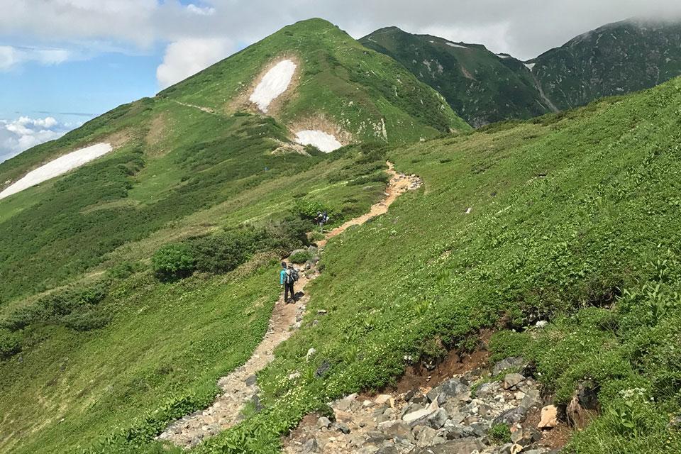 奥大日岳の風景