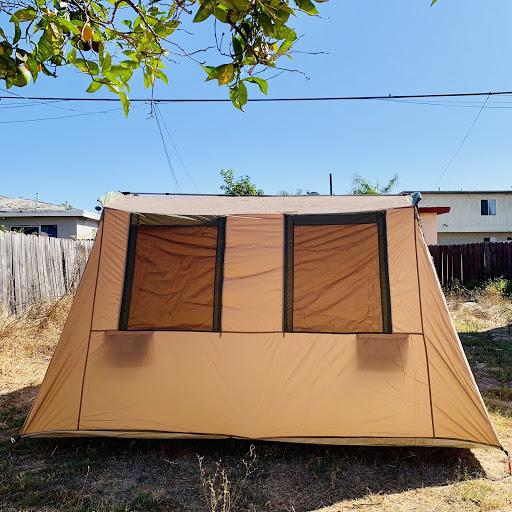 海外のメッシュのテント