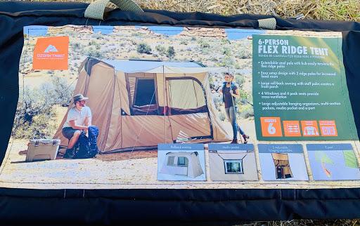 海外のメッシュのテントのパッケージ