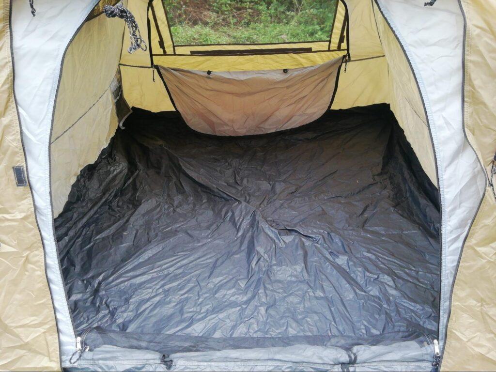 クイックキャンプワンタッチテントのボトムの写真