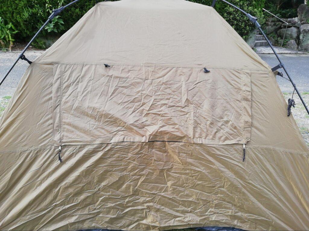 クイックキャンプワンタッチテントの側面の写真