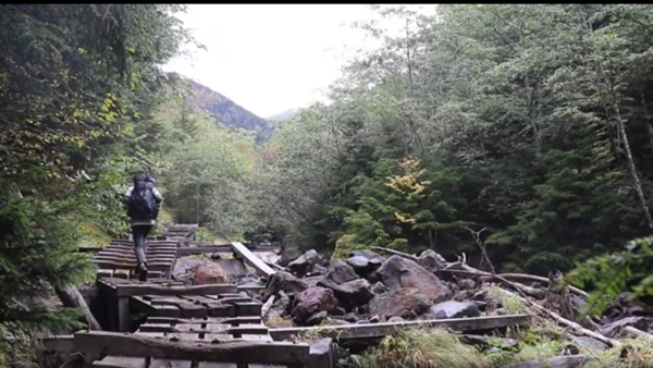 赤岳鉱泉までの道のり写真